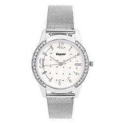 White Espoir Diamond Studded Womens Watch