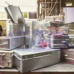 Aluminium Boxes & Trays Aluminum Utensils, Size: Many Sizes Available