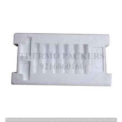 White Jumbo Battery Thermocol Packing for 25 Plate Battery, For Packaging, Thickness: 55 Mm