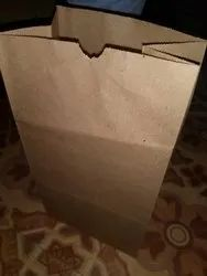 Folding Brown Square Bottom Paper Bags, For Shopping, Capacity: 1kg