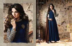 New Sleeves Work Floor Length Anarkali
