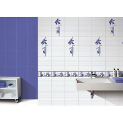 Ceramic Bathroom Wall Tile, Thickness: 10 - 12 mm