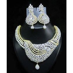 4000d3cf84c13 Hallmarked Certified Bridal Diamond Necklace Set, Rs 500000 /set ...