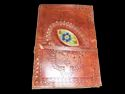 Celtic Chakra Leather Journal with Stone