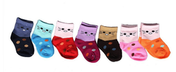 Girl BirthMark Baby Socks 7 Piece Set