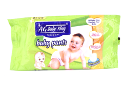 White AG Baby King Anglo Goldy Baby King Diapers and Pants, Packaging Type: Air Tite