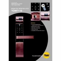 Digital Mortise Door Lock Main Door YALE YDM7116, Biometric, Finish Type: Stainless Steel