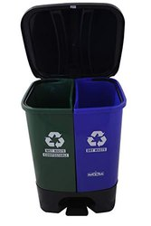 Twin Wet and Dry Type FRP Waste Dustbin