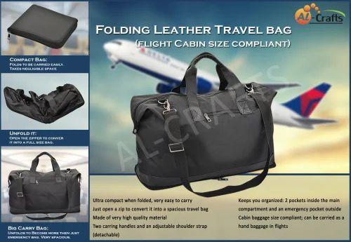 1b77454ad AL-Crafts Folding Travel Bag Travel Duffel Bag, Rs 485 /piece | ID ...