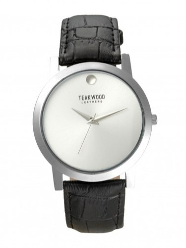 Teakwood Leather White Men' ' s Analog Watch