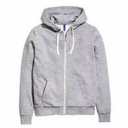 Men's Woolen Grey Full Sleeve Jacket, Size: M