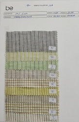 Folder No 1304 100% Linen Stripes Fabric