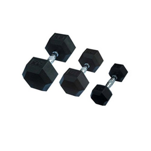 Power Max, Rubber Coated Hexagon Dumbbells, weight: Available in 2.5,5,7.5,10,12.5,15,17.5,20,22.5,25,30,35,40,45,50 Kg