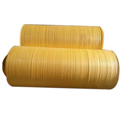 Plain Yellow HDPE Woven Fabric
