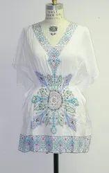Cotton Western Wear ladies printed dress, 17-45