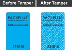Packplus Mobile Camera Tamper Evident Void Stickers