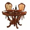 Royal Brown Wooden Dining Table Set, For Home