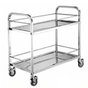 4 Wheel SS Kitchen Trolley