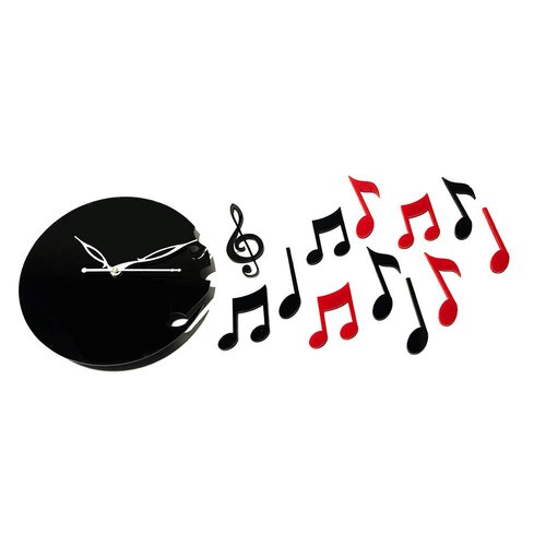 Raama Analog Music Sign Acrylic Wall Clock, For Home And Office