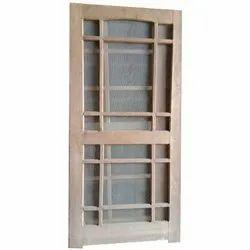 Mosquito Net Wooden Door