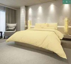 Crem King Cotton Satin Stripe (Hotel) Bedsheet, For Home, Size: 108*108