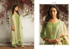 The Summer Of Love By Ganga Pure Muslin Silk Designer Fancy Dress Materials