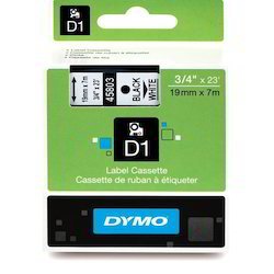 Dymo 19mm 45803 Black On White - 3/4 Colors Tapes
