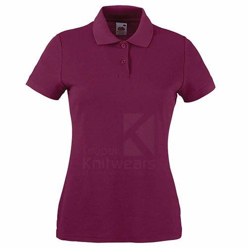 543eff1d Tirupur Knitwears Women Plain Polo T Shirt, Rs 235 /piece   ID ...