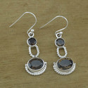 Smoky Gemstone 925 Sterling Silver Unique Jewelry Earring