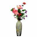 Designer Cream And Black Vase