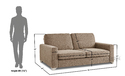 Adorn India Straight Line 3 Seater Sofa(Camel)