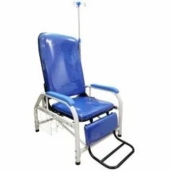 Kawachi 3 Section Hospital Manual Blood Donor Adjustable Transfusion Chair with I.V. Drop Stand
