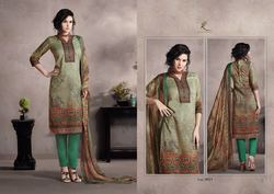 Glace Cotton with Embroidery Kurti