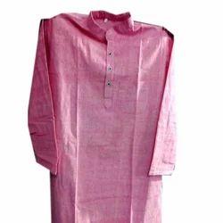 Plain Khadi Cotton Long Kurta
