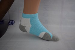Menz White Ankle Socks, Size: Full