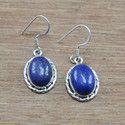 Lapis Lazuli Gemstone 925 Sterling Silver Jewelry Earring
