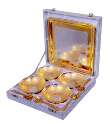 Decorative Brass Wedding Gift Bowls Set of 4