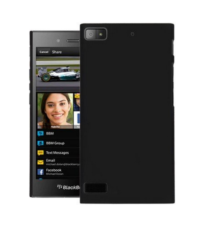 Hard Back Case Cover For Blackberry Z3 Black