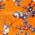 Flower Print Satin Scarves
