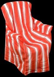 Orange Striped Cotton Chair Pads