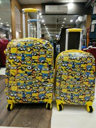 Sanchi Creation 360 Degree 18 or 22Cartoon Minion Trolley Bag, For Travelling, Size: 55x38x25 Cm
