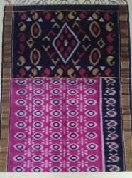 Multicolor Kota Silk Cotton Pochampally Sarees, Hand Made, 6.3 m (with blouse piece)