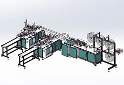 Automatic 3-Ply Non-Woven Face-Mask Making Machine
