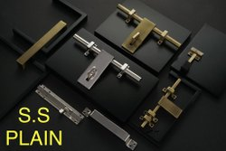 Stainless Steel Premium Door Kit, Size: 10'', Rod Thickness: 14mm