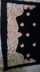 Tex Weaves India Chiffon Machine Embroidery Saree