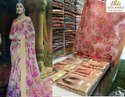 Formal Wear Printed Cotton Silk Saree, 6.3 M (with Blouse Piece), Without Blouse Piece