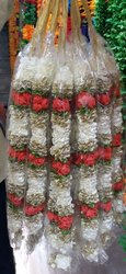 Traditional Satin Ribbon Rose Garland
