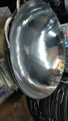 Polished Stainless Steel Kadhai, Model Name/Number: 208, Size: 80 Inch
