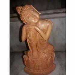 Designer Wooden Buddha Statue