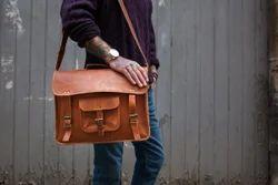 Leather Bag, Messenger Bag, Laptop Bag, Pure Leather Bag, Genuine Leather, Handmade, Vintage
